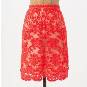 Anthropologie Sunblaze Lace Skirt NWT